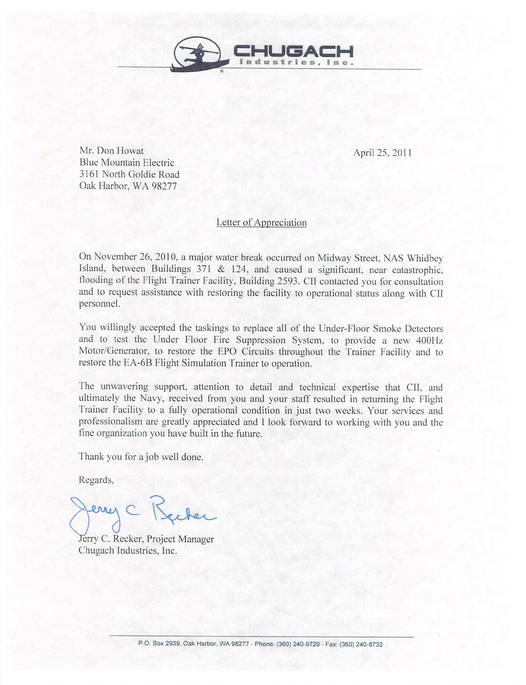 CII Flood Letter