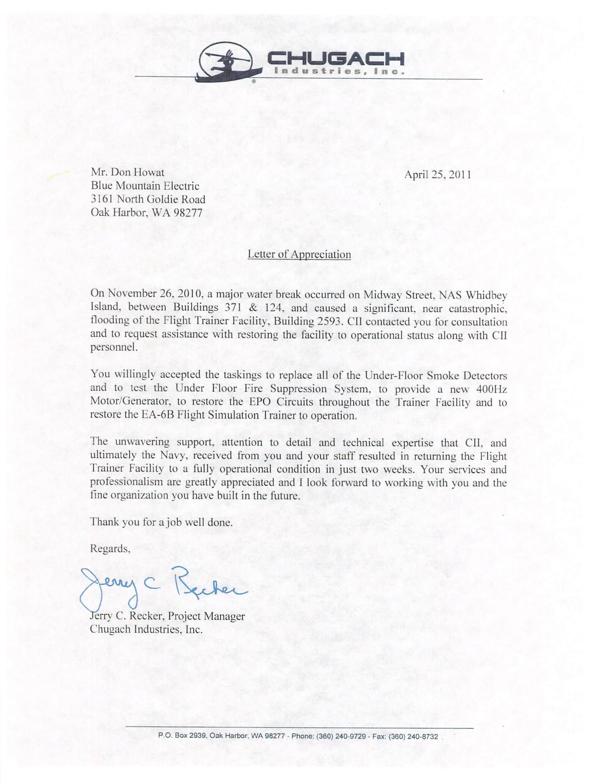 CII Flood Letter